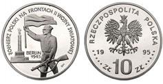 10 zł, Żołnierz Polski Na Frontach II Wojny Światowej - Berlin 1945
