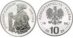 10 zł, Zygmunt II August - półpostać