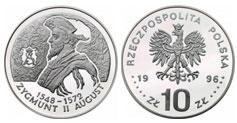 10 zł, Zygmunt II August - popiersie
