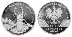 20 zł, Jelonek Rogacz - Lucanus Cervus