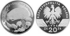 20 zł, Jeż - Erinaceus Europaeus
