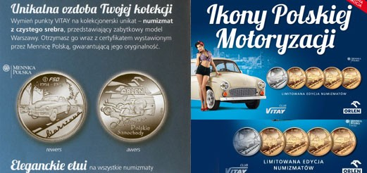 Monety Orlen Ikony polskiej motoryzacji